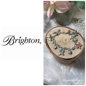 Brighton bracelet Flutter butterfly silver enamel